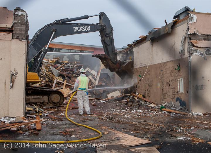 0983 B Bldg Demolition Day one 01152014