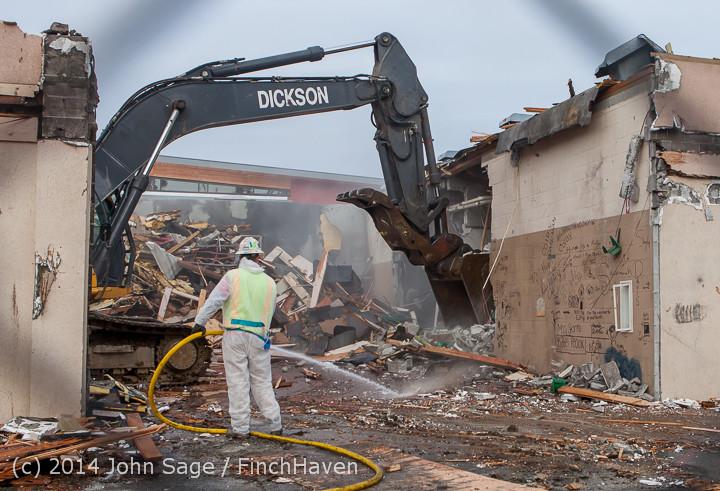 0999 B Bldg Demolition Day one 01152014
