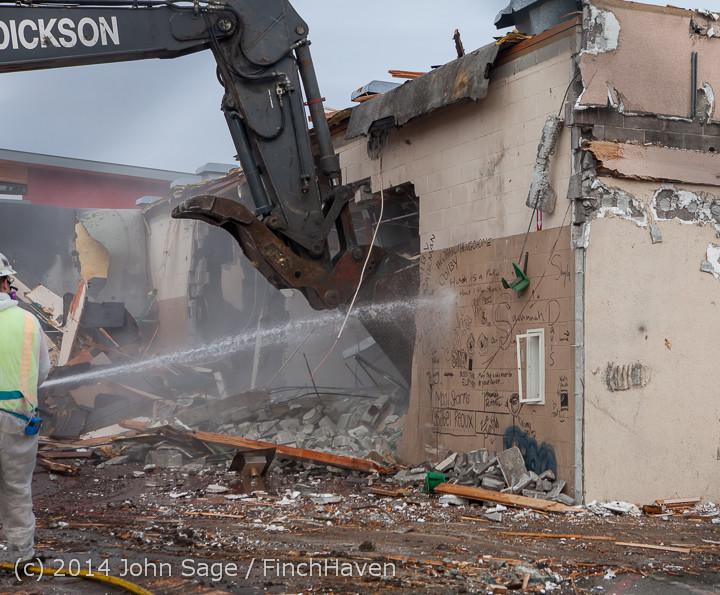 1006 B Bldg Demolition Day one 01152014