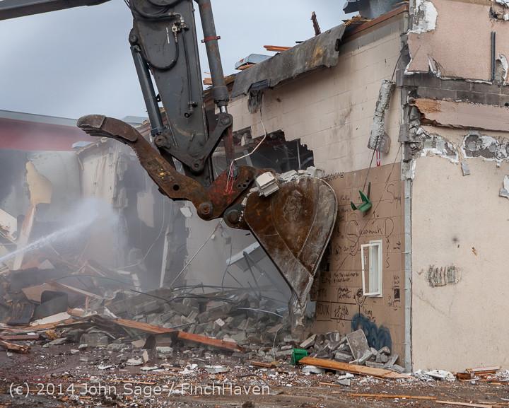 1012 B Bldg Demolition Day one 01152014