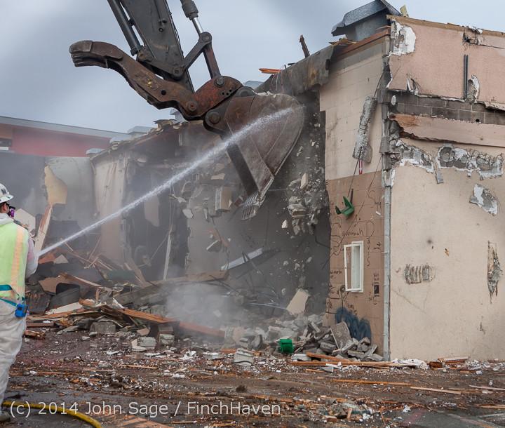 1020 B Bldg Demolition Day one 01152014