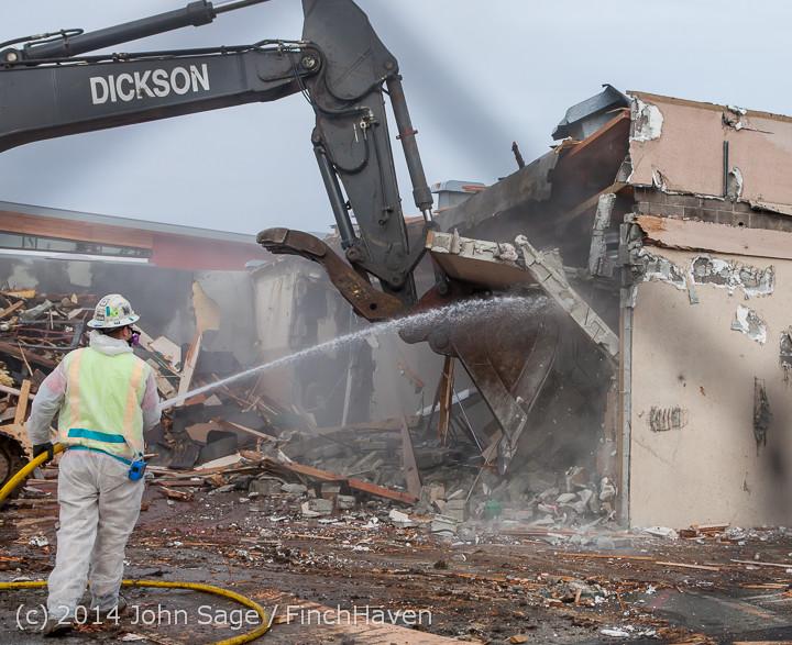 1029 B Bldg Demolition Day one 01152014