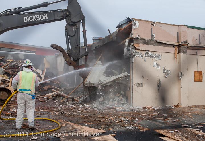 1030 B Bldg Demolition Day one 01152014