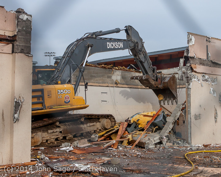 1120 B Bldg Demolition Day one 01152014