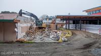 1132 B Bldg Demolition Day two 01162014
