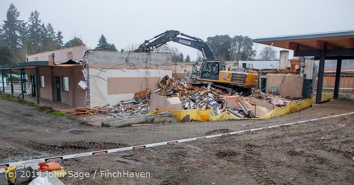 1134 B Bldg Demolition Day two 01162014