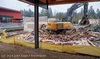 1140 B Bldg Demolition Day two 01162014