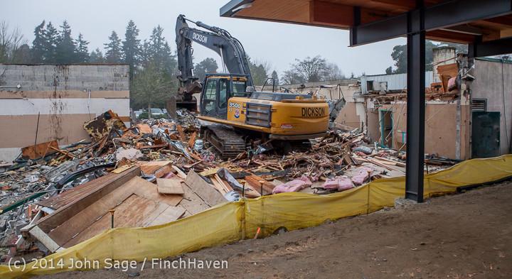 1159 B Bldg Demolition Day two 01162014