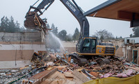 1166 B Bldg Demolition Day two 01162014