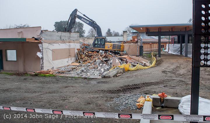 1170 B Bldg Demolition Day two 01162014