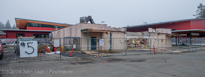 1214 B Bldg Demolition Day two 01162014