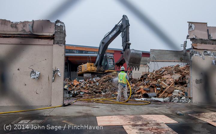 1223 B Bldg Demolition Day two 01162014