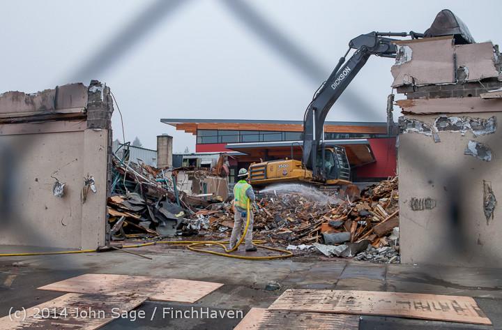 1229 B Bldg Demolition Day two 01162014