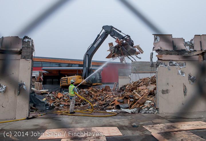 1236 B Bldg Demolition Day two 01162014