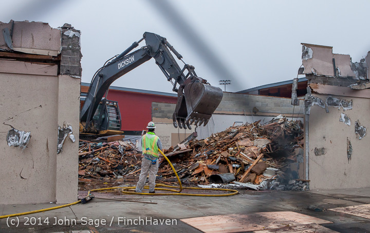 1274 B Bldg Demolition Day two 01162014