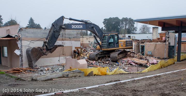 1323 B Bldg Demolition Day two 01162014