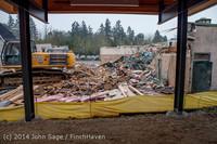 1366 B Bldg Demolition Day two 01162014