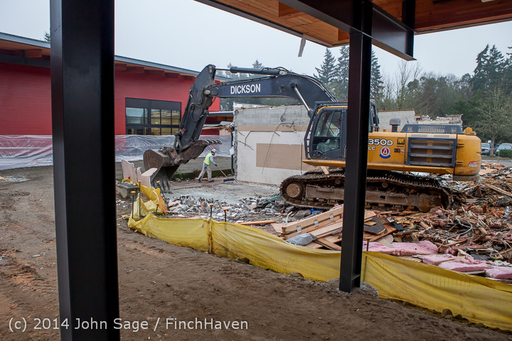 1367 B Bldg Demolition Day two 01162014