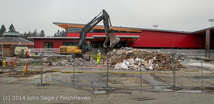16702 B Bldg Demolition Day three 01172014