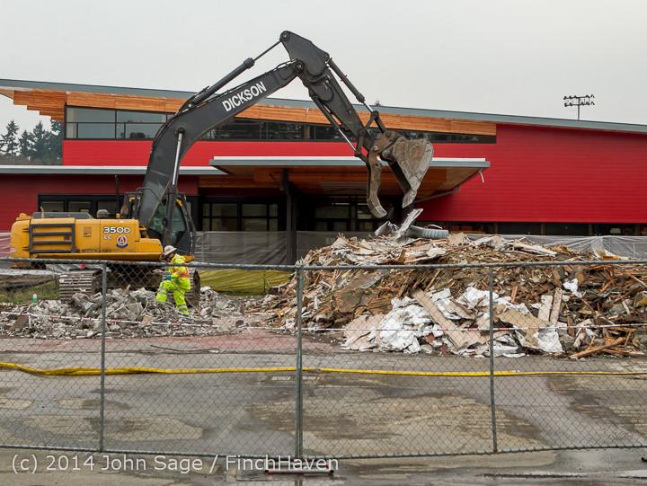 16705 B Bldg Demolition Day three 01172014