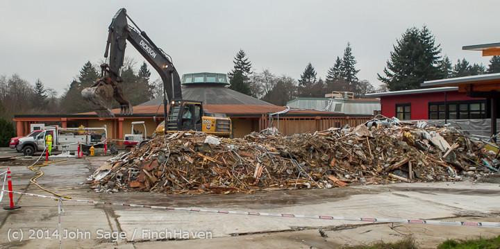 16738 B Bldg Demolition Day three 01172014
