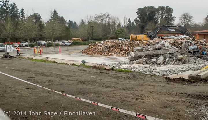 16743 B Bldg Demolition Day three 01172014