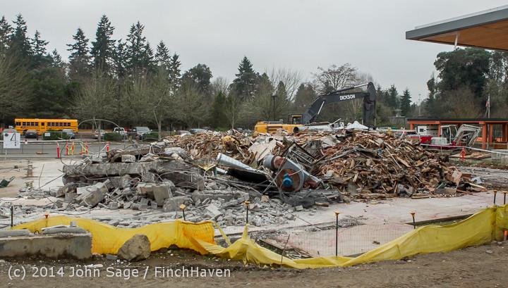 16754 B Bldg Demolition Day three 01172014