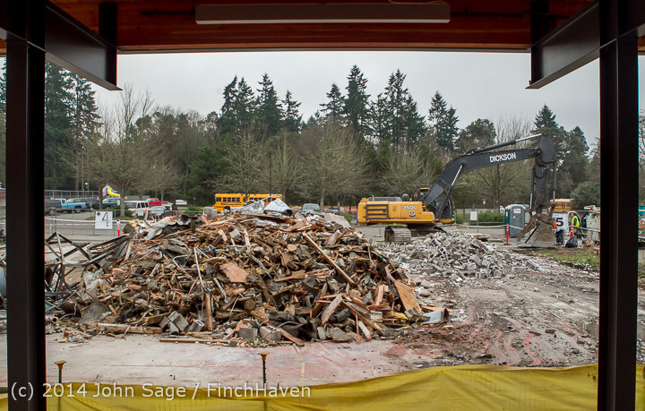 16757 B Bldg Demolition Day three 01172014