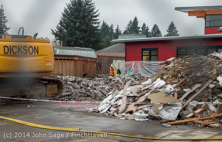 16770 B Bldg Demolition Day three 01172014