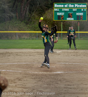 6016 Softball v Belle-Chr 032616