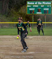 6018 Softball v Belle-Chr 032616