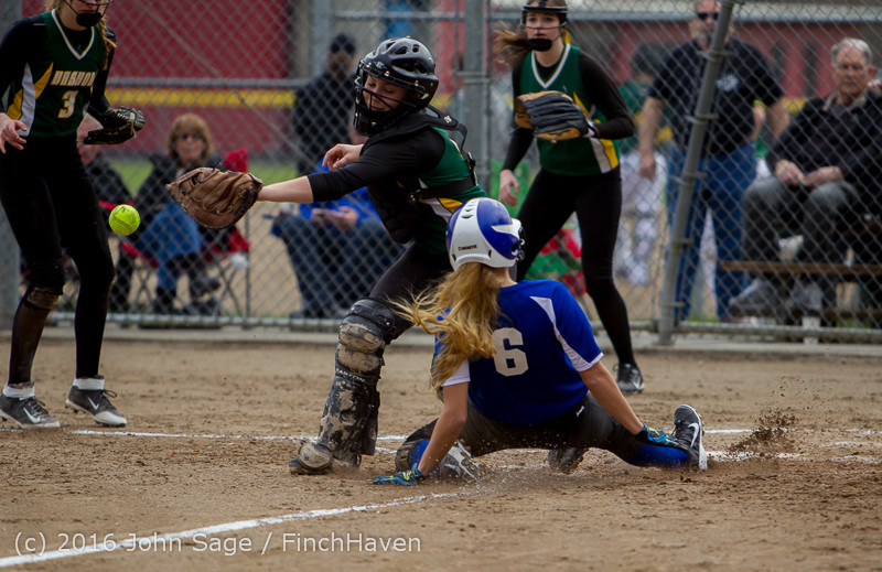 6042 Softball v Belle-Chr 032616