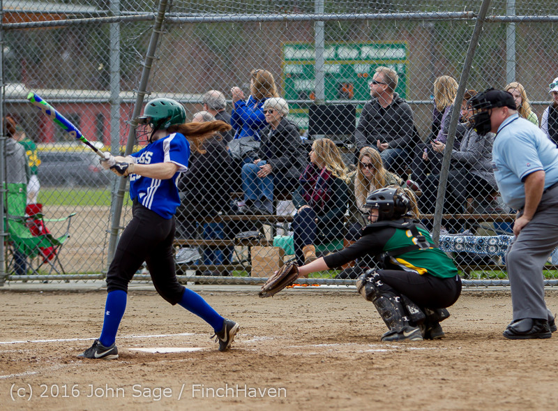 6120 Softball v Belle-Chr 032616