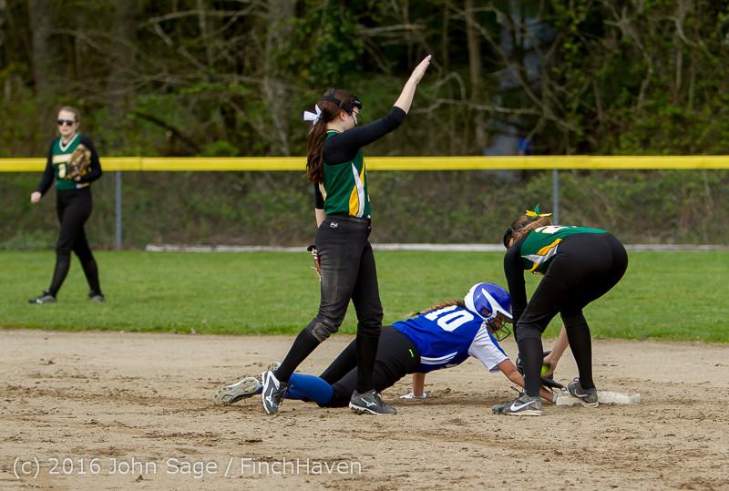 6255 Softball v Belle-Chr 032616