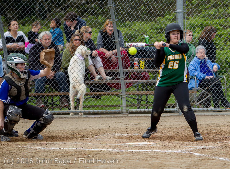 6645 Softball v Belle-Chr 032616