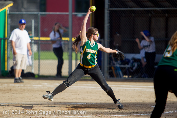 1272 Softball v University-Prep 042914