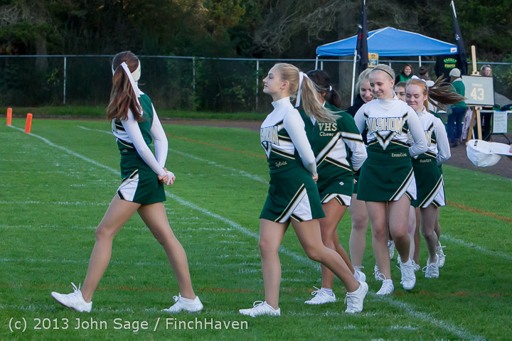 5444 VHS Fall Cheer 2013 at Football v Port Townsend 100413