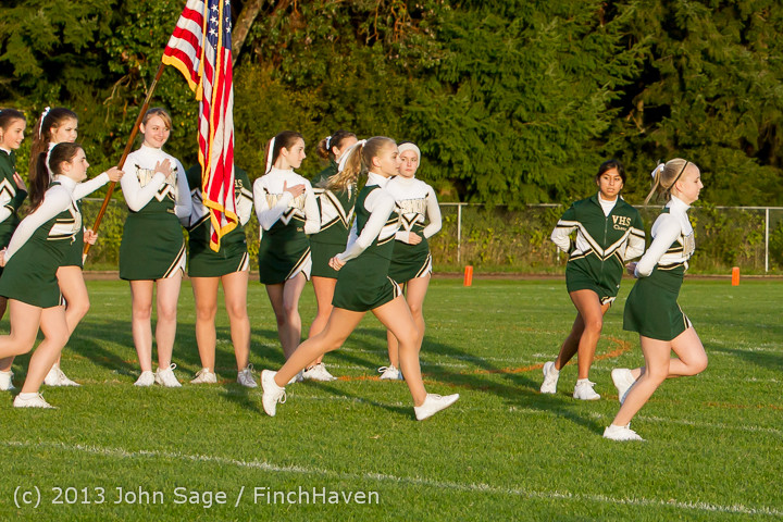 5458 VHS Fall Cheer 2013 at Football v Port Townsend 100413