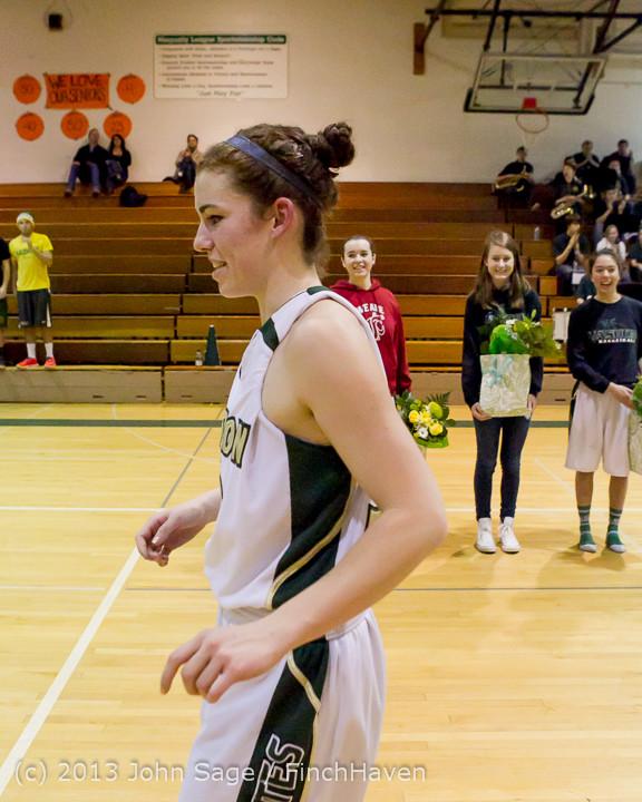 20315 VHS Girls Basketball Seniors Night 2014 021114