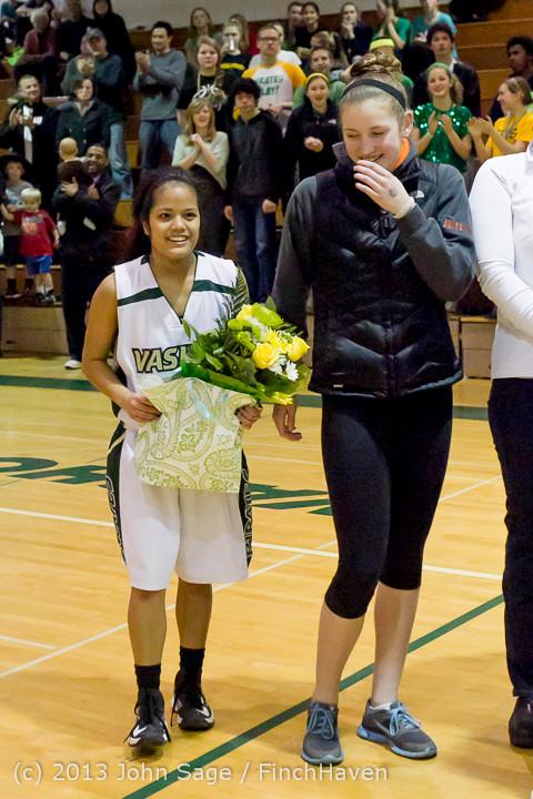 20444 VHS Girls Basketball Seniors Night 2014 021114