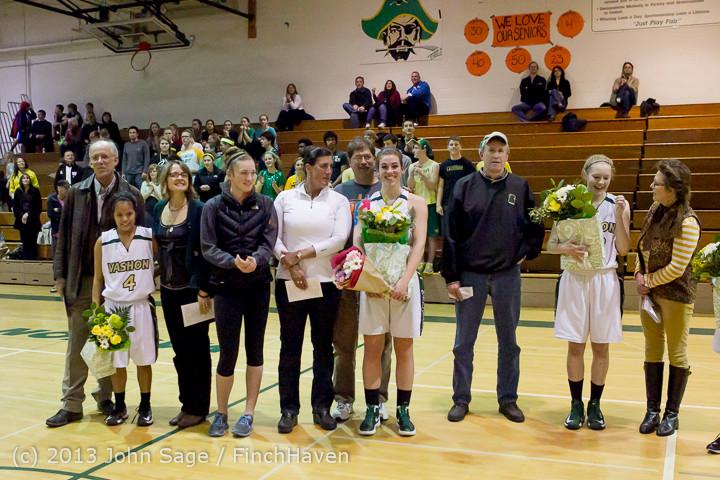 20458 VHS Girls Basketball Seniors Night 2014 021114