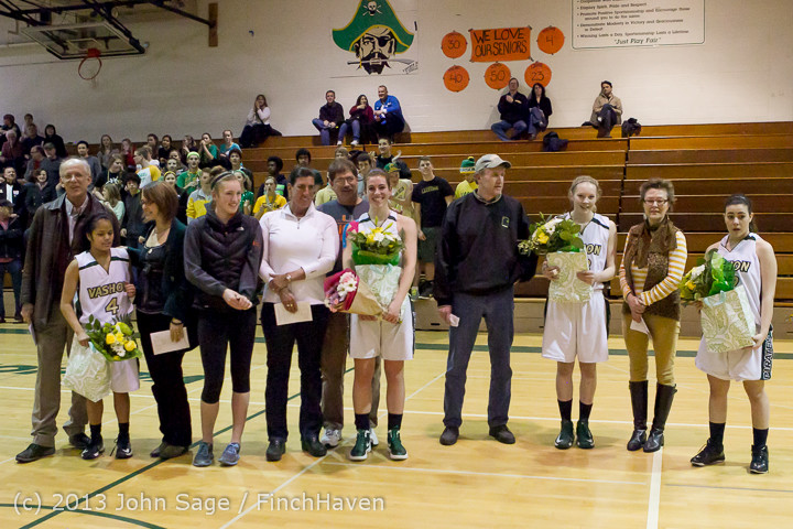 20469 VHS Girls Basketball Seniors Night 2014 021114
