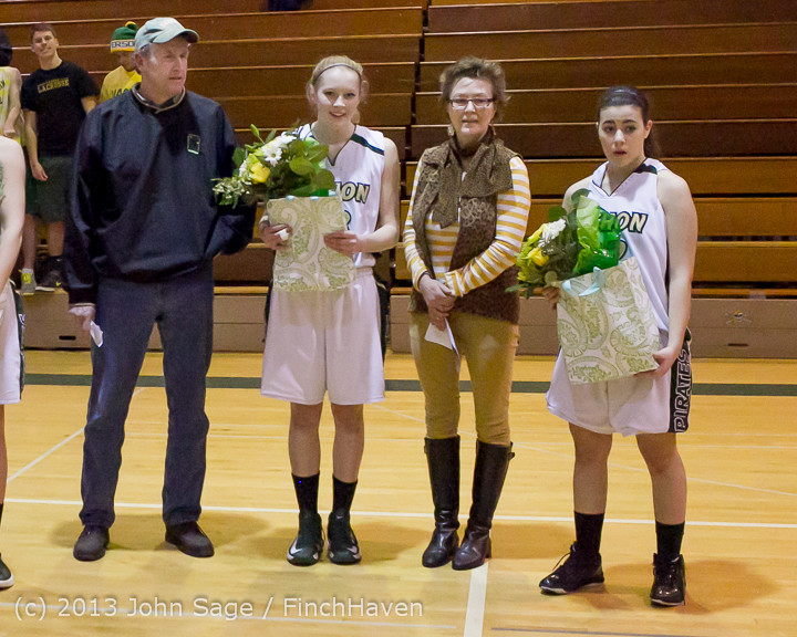 20470 VHS Girls Basketball Seniors Night 2014 021114
