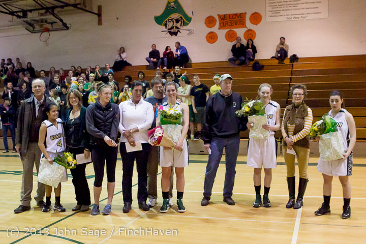 20471 VHS Girls Basketball Seniors Night 2014 021114