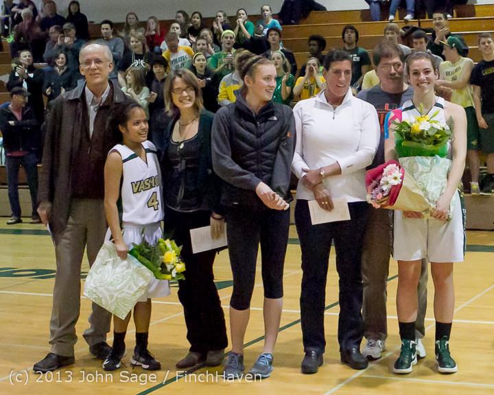20472 VHS Girls Basketball Seniors Night 2014 021114