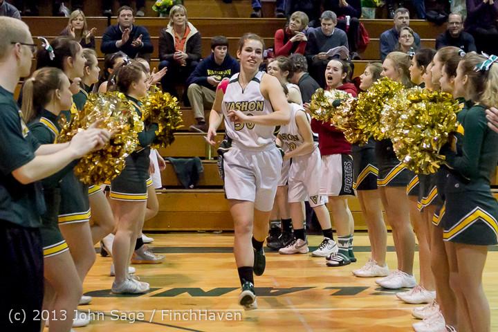 20612 VHS Girls Basketball Seniors Night 2014 021114