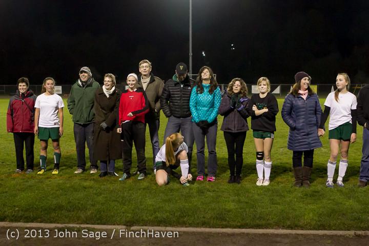 5457 VHS Girls Soccer Seniors Night 2013 102913