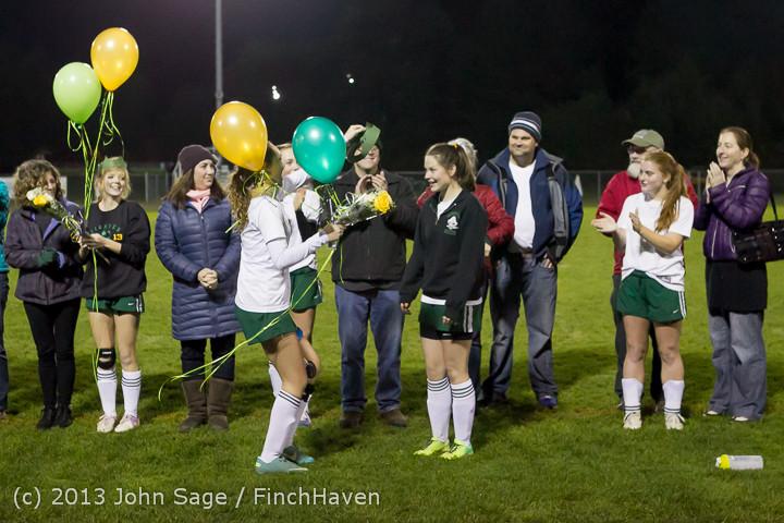5501 VHS Girls Soccer Seniors Night 2013 102913