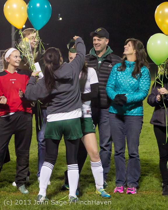 5545 VHS Girls Soccer Seniors Night 2013 102913