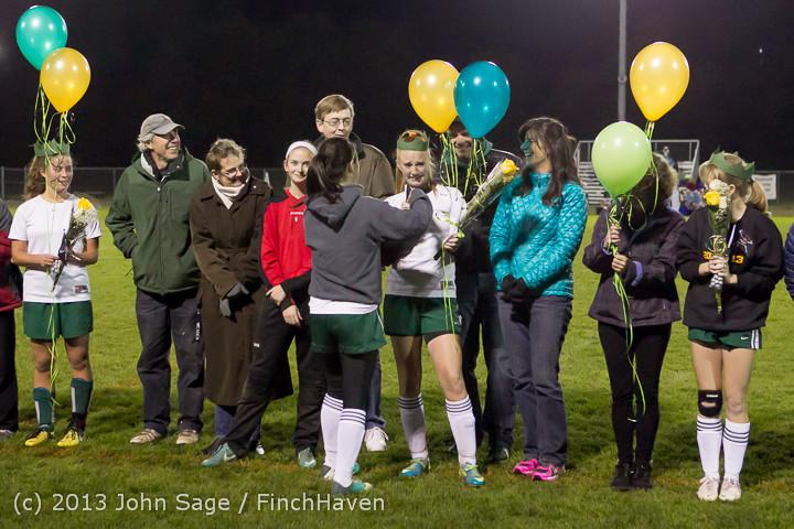 5552 VHS Girls Soccer Seniors Night 2013 102913